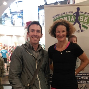 Me and Irish Olypmic Medalist Sonia O'Sullivan